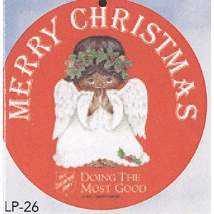 ANGEL ORNAMENT AFRICAN-AMERICAN TAGS