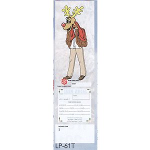TEEN ANGEL MALE REINDEER TREE TAGS