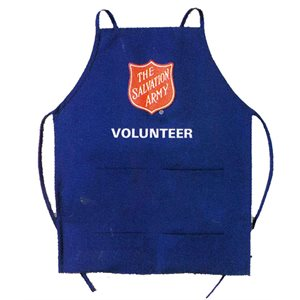 Blue Volunteer Apron With Shield