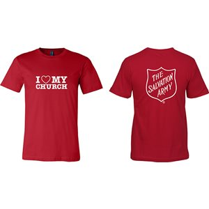 "Youth Red T-shirt ""I <3 My Church"""