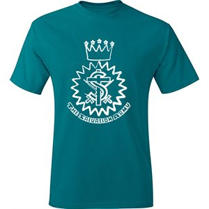 Teal T-Shirt With Crest