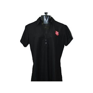 POLO BLACK W SHIELD LADIES