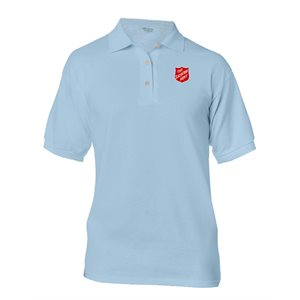 Light Blue Polo Shirt w / Shield