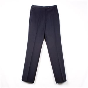 NAVY POLY SLACKS
