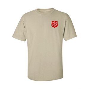 Sand T-Shirt With Shield Front & Back