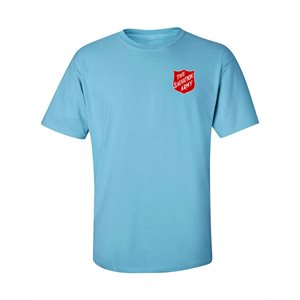 Sky Blue T-Shirt With Shield Front & Back