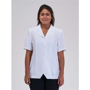 Dorcas Short Sleeve Open Collar Blouse
