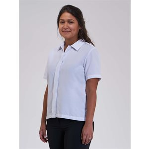 Rachel Short Sleeve Closed Collar Blouse